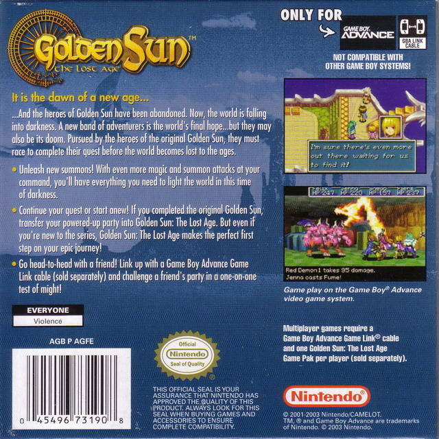gba golden sun 2 the lost age cool rom