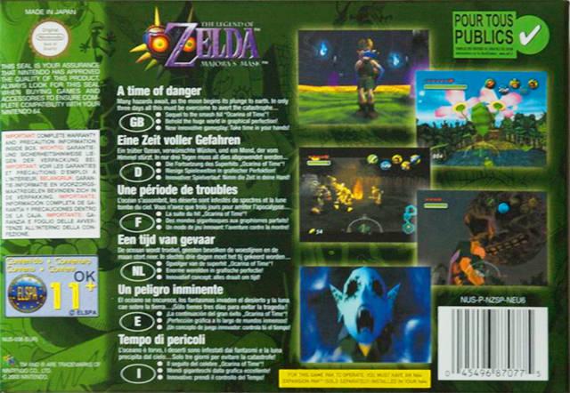 The Legend of Zelda: Majora's Mask (Europe) N64 ROM