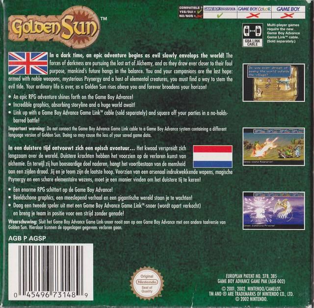 Golden Sun (Germany) GBA ROM