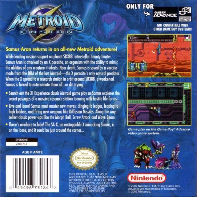 Metroid Fusion USA Australia GBA ROM