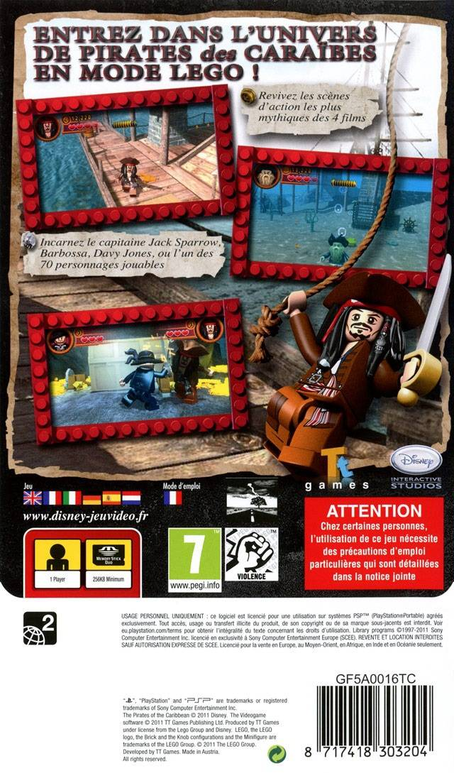 LEGO Pirates of the Caribbean: The Video Game (Europe) PSP ISO ...