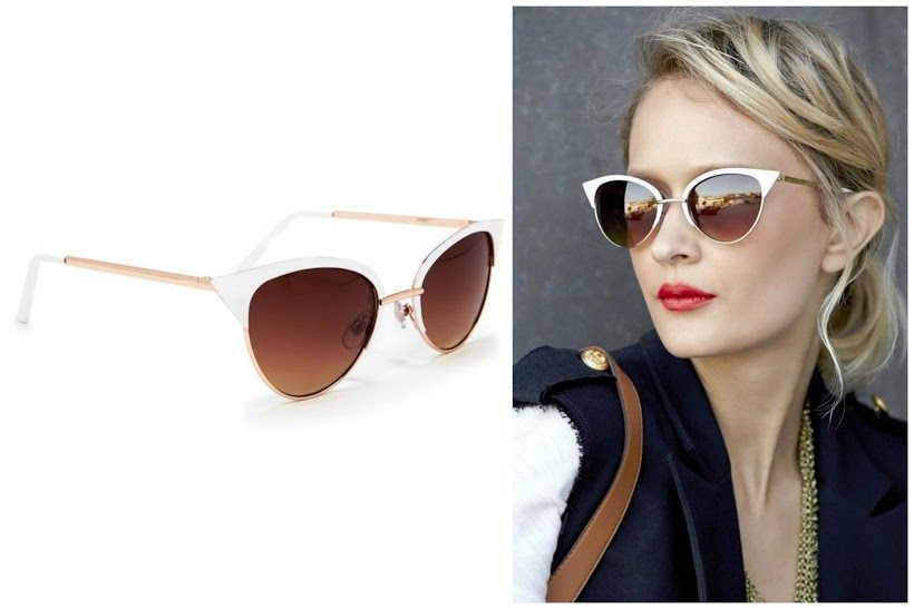 Vivian metal Cateye Sunglasses