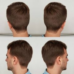 Squared Neckline - Taper Haircut Trends