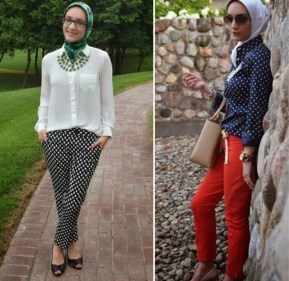 polka-dot shirt or pants motifs - 9 Ways to Mix & Match Polka-dot Motifs