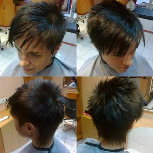 short spiky haircut for women
