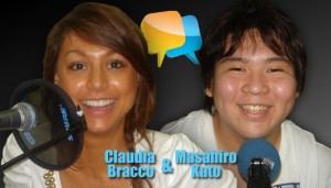 Claudia and Masahiro appear in listening activities throughout Nice Talking with You