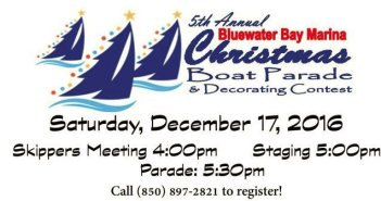 bluewater christmas boat parade niceville