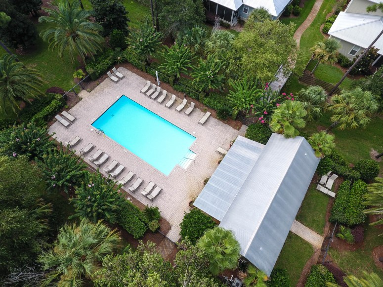 Community Pool Amenity Aerial