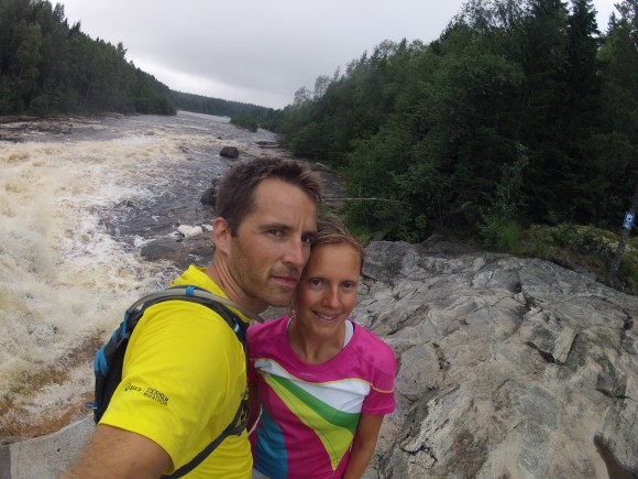 Jag och frun vid Öre älv