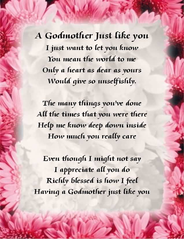 Birthday Wishes For Godmother Happy Birthday Quotes