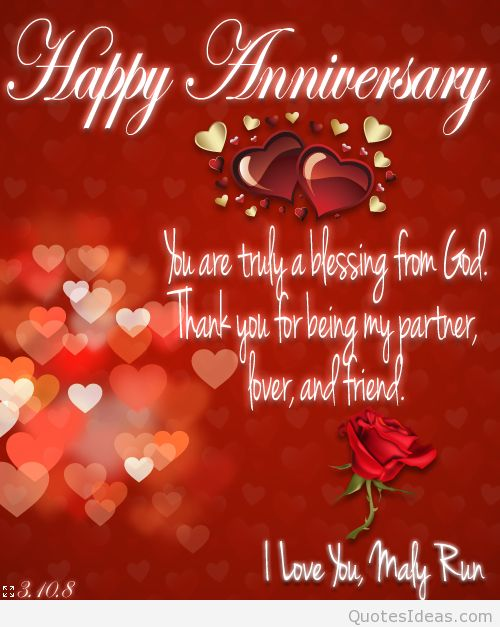 Happy Anniversary Wishes With Blessings NiceWishes