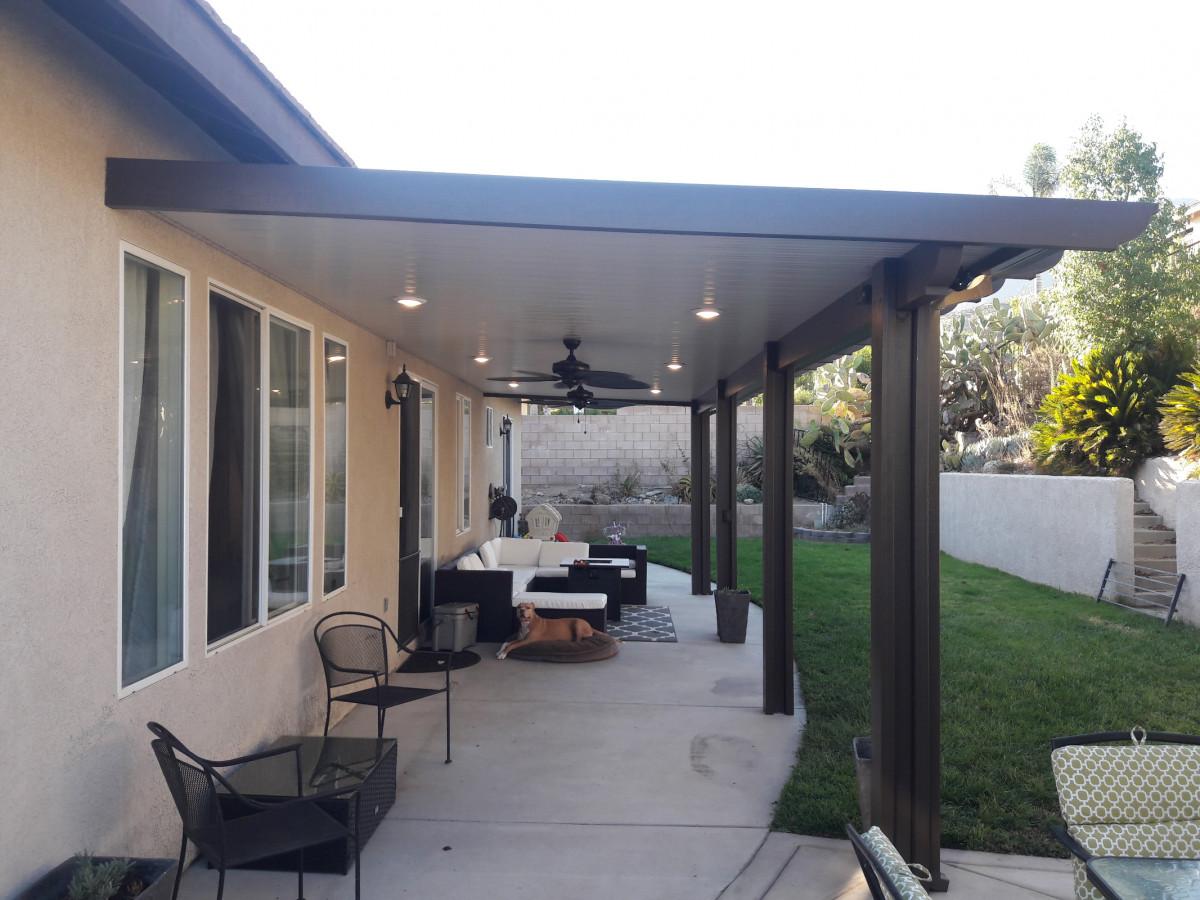 photos of aluminum patio covers