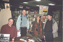 Pictured at Bolen Books, Victoria, are L-R: Richard Mackie, Len Todd, Cathy Richardson and Julian Wake.