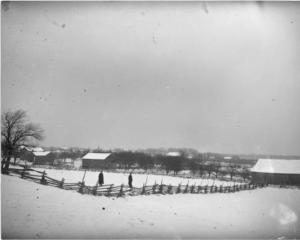 Winter Fences and Barns: Photo Courtesy of Archival Collections, McLaughlin Library, University of Guelph. Stephen Sylvester Main Collection.