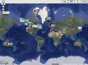 Map from the virtual field trip on car culture around the world