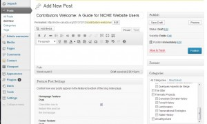 Wordpress makes it easy to contribute to the NiCHE website