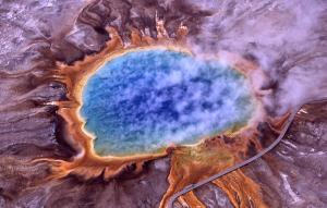 Grand Prismatic Spring; Hot Springs, Midway & Lower Geyser Basin, Yellowstone National Park