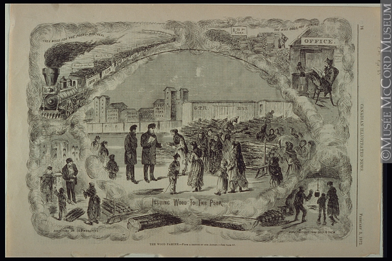 """""""The Wood Famine,"""" Montreal 1872. Source: McCord Museum"""