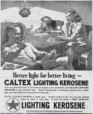 Caltex kersosene ad, 1947