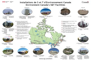 Map of Environment Canada's Science & Technology Facilities, 2010