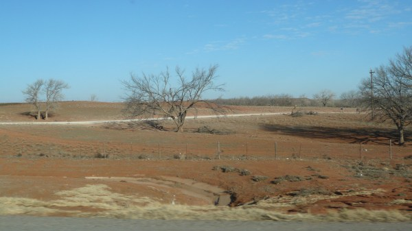 Red Oklahoma soil, waiting for spring - February 27, 2014