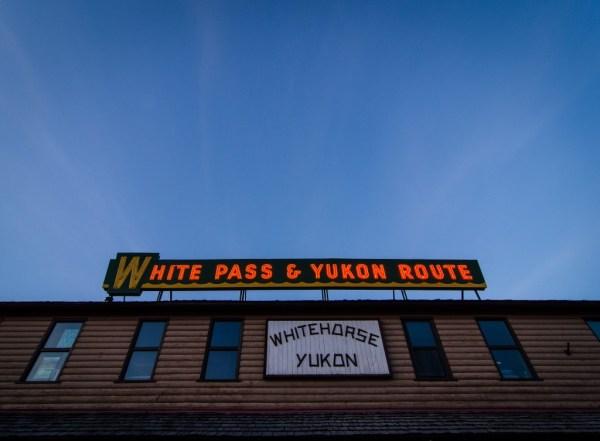 Caption: Whitehorse's historic train station
