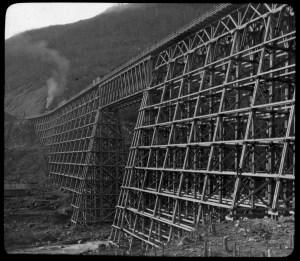 Bridge over Mountain Creek, British Columbia 1885-1900