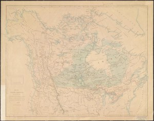 Map of North America. Drawn by J. Arrowsmith.