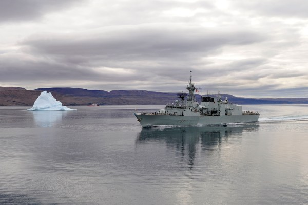 HMCS Montreal near Nanisivik, OPNANOOK10 (22 August 2010). Department of National Defence