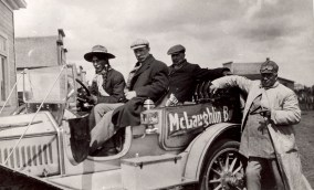 """""""The First Auto Trip Across the Prairies."""" Source: Thomas Bouckley Collection, Robert McLaughlin Gallery, 715 0667, 1911."""