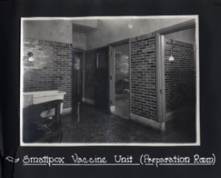 Figure 1: Smallpox Vaccine Unit (Preparation Room). 1918 Photograph Album, Sanofi Pasteur Canada (Connaught Campus), Toronto, Archives.