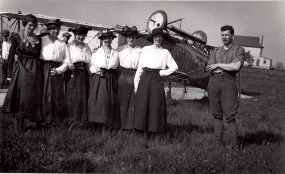 """Miller's Staff At Overturned Plane,"" Thomas Bouckley Collection, Robert McLaughlin Gallery,  2162 2101, 1918."