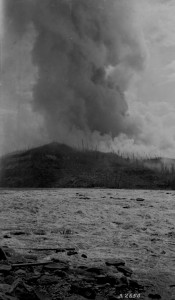 Forest Fire at Grand Rapids Alberta, 1921. Source: Library and Archives Canada, 3364064.