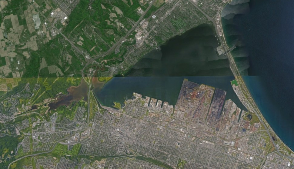 Hamilton Harbour. Source: Google Earth.