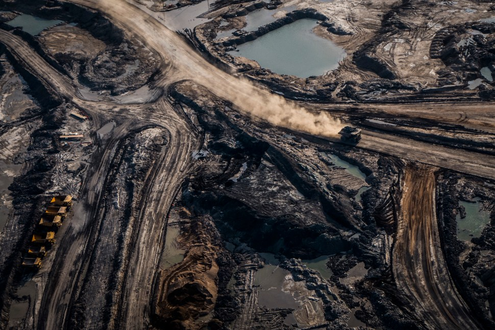 Syncrude Mildred Lake Mine, Athabasca Oil Sands Region, 2014.
