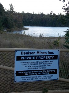 Sign warning of low level radiation. Photo by author.