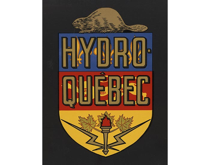 Hydro Quebec logo in 1944