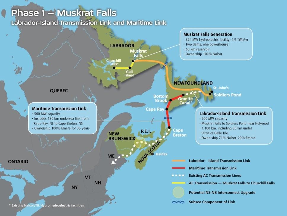 Muskrat Falls Transmission - Phase I (copyright Nalco)