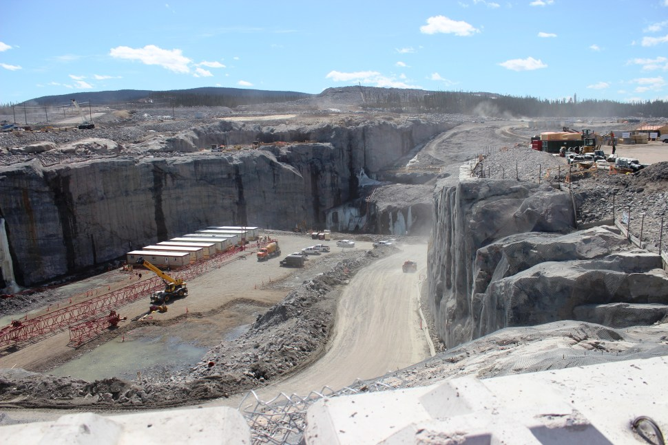 Muskrat Falls Generating Station under construction (copyright Nalco)