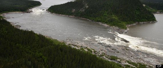 Lower Churchill River before construction of Muskrat Falls GS