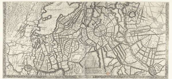 A portion of the map Alba commissioned showing how to flood Holland permanently. Source: the Rijksmuseum