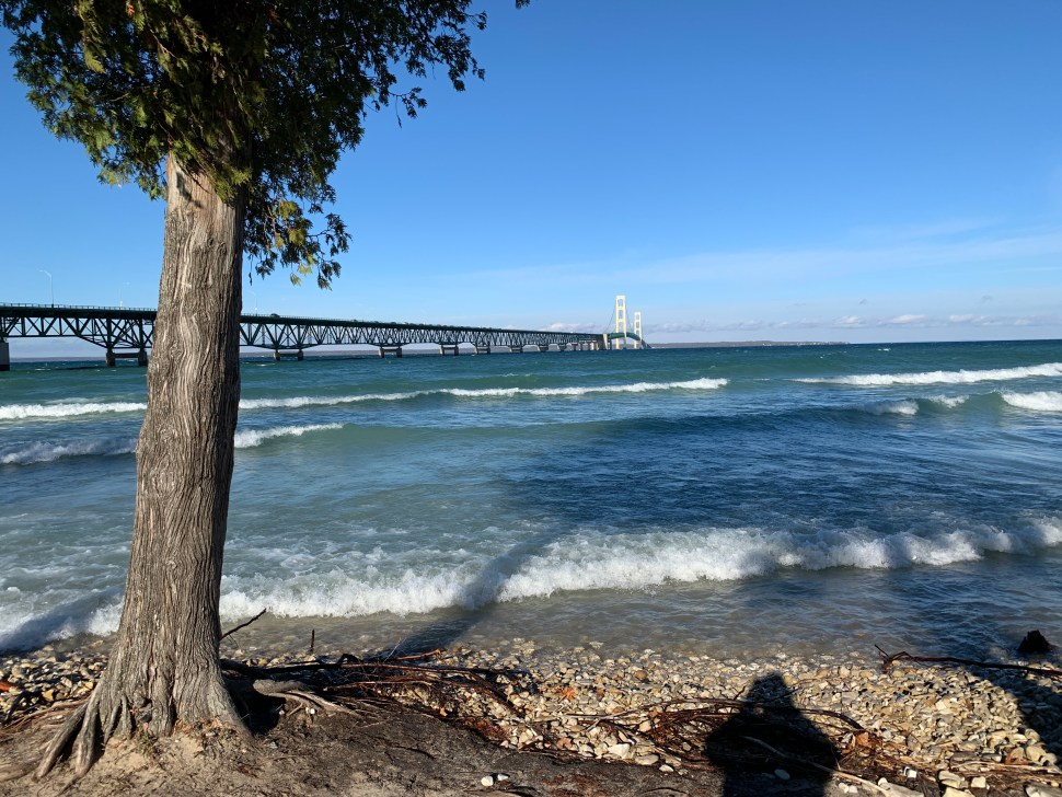 The Straits of Mackinac. Photo by author.