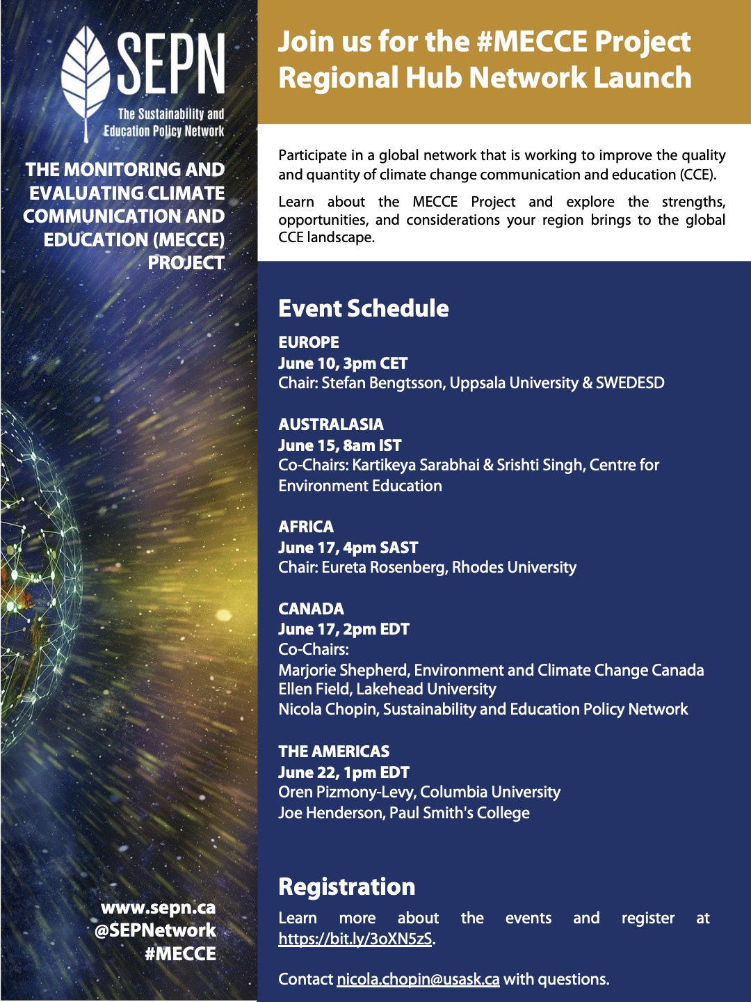 MECCE Launch poster