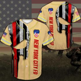 Baseball Shirt New York City Fire Department DH49- All Over Printed(8886)