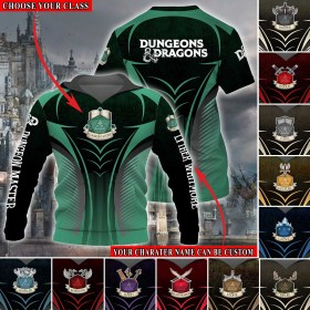 Custom DnD M7 Shirt Choose Class And Custom Character Name All Over Printed (6228)