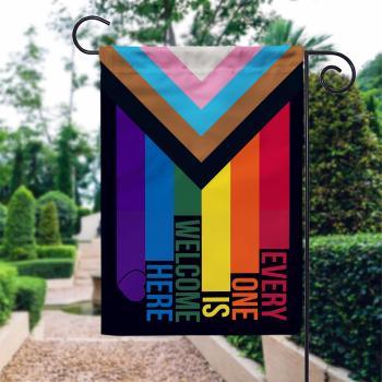 Progress Pride Gaden Flag, Inclusive Pride Flag, LGBT Gay Pride Flag, pride flag LGBT Pride Garden Flag