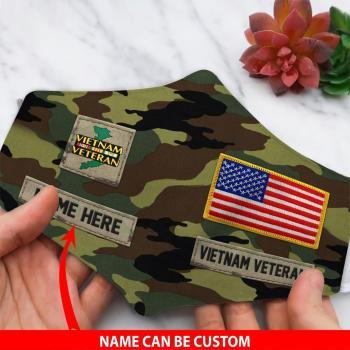 Vietnam Veteran Face Mask, Gifts For Veteran Custom Face Mask All Over Printed