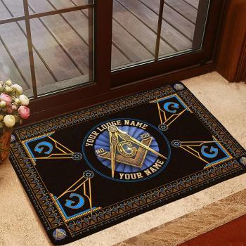 Freemason Doormat, Custom Doormat, Custom Lodge Name, Lodge Number, Your Name All Over Printed