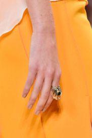 Nina Ricci ring of brass and precious gemstone