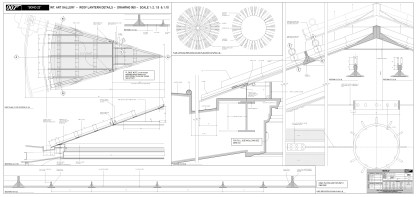 Art Gallery Rooflight construction dwg
